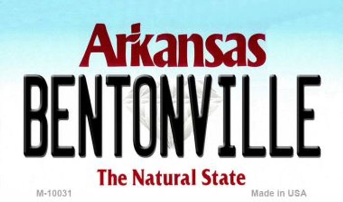 Bentonville Arkansas State Background Magnet Novelty Wholesale
