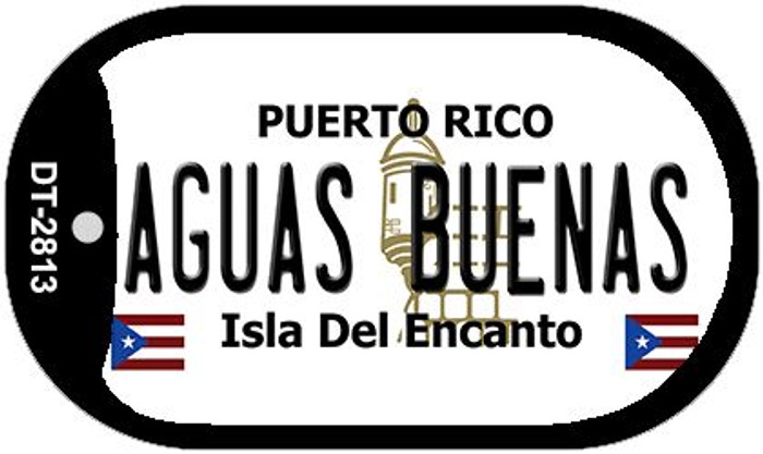 Aguas Buenas Puerto Rico Flag Dog Tag Kit Wholesale Metal Novelty Necklace