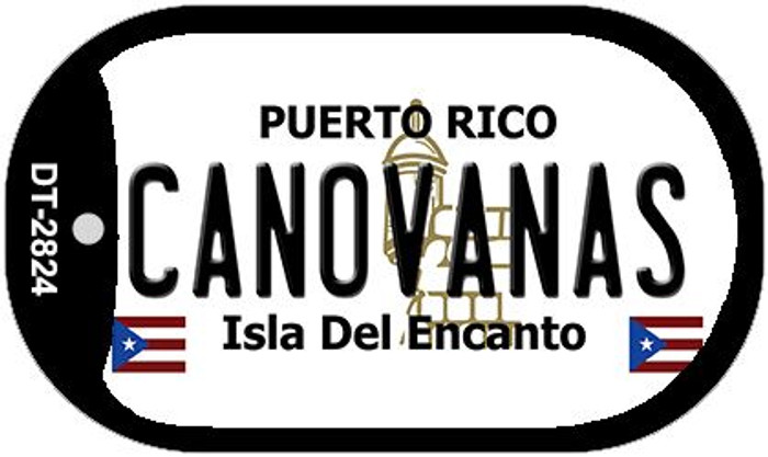 Canovanas Puerto Rico Flag Dog Tag Kit Wholesale Metal Novelty Necklace