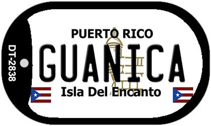 Guanica Puerto Rico Flag Dog Tag Kit Wholesale Metal Novelty Necklace