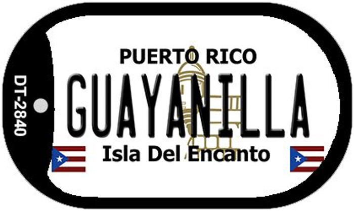 Guayanilla Puerto Rico Flag Dog Tag Kit Wholesale Metal Novelty Necklace