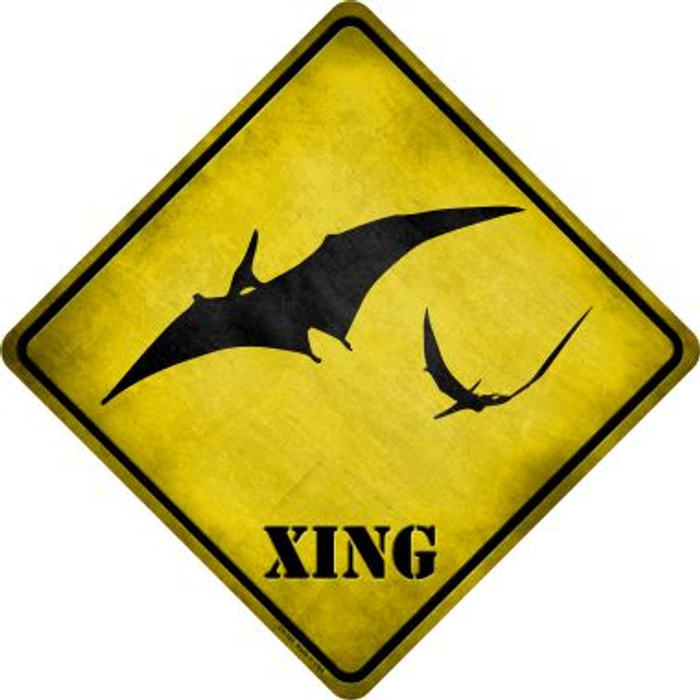 Pterodactyls Xing Novelty Metal Crossing Sign Wholesale