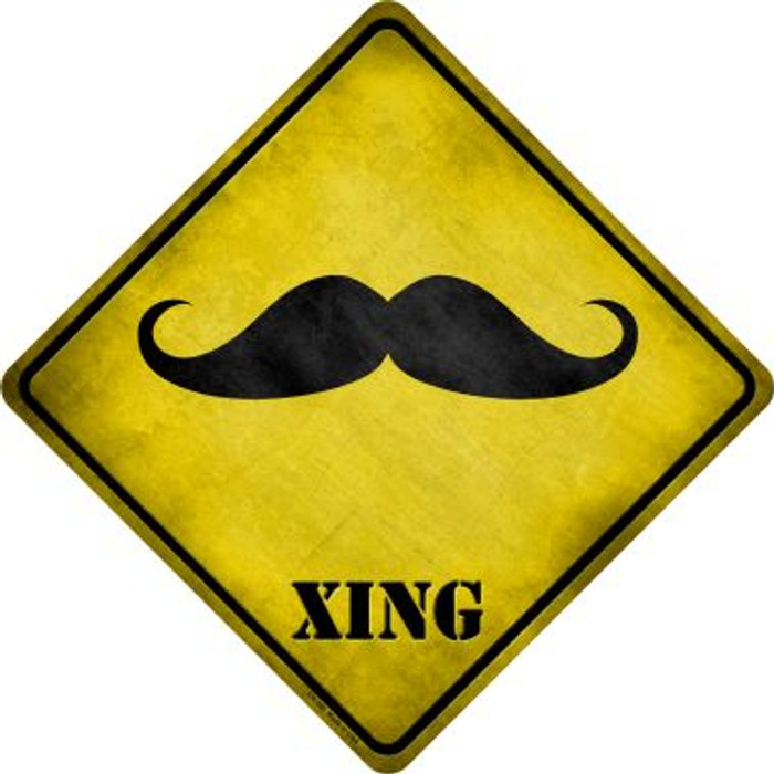 Classic Moustache Xing Novelty Metal Crossing Sign Wholesale
