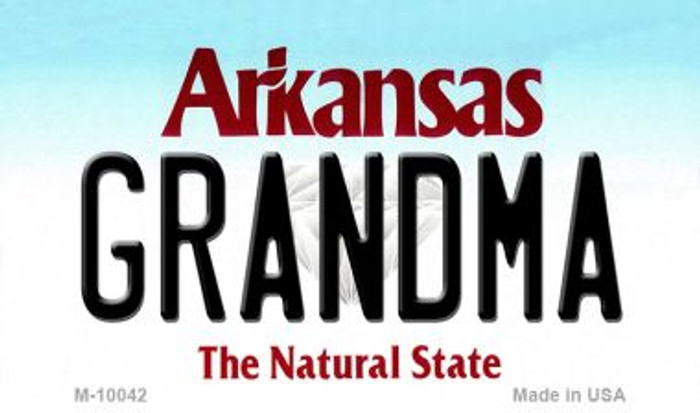 Grandma Arkansas State License Plate Magnet Novelty Wholesale M-10042