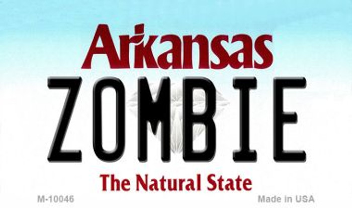 Zombie Arkansas State License Plate Magnet Novelty Wholesale M-10046