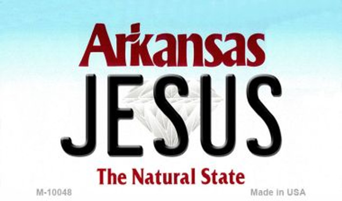 Jesus Arkansas State License Plate Magnet Novelty Wholesale M-10048