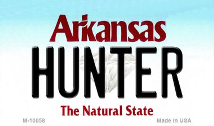 Hunter Arkansas State License Plate Magnet Novelty Wholesale M-10058