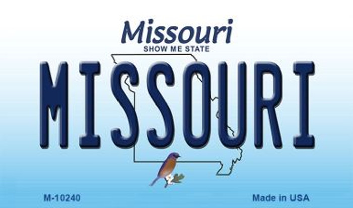 Missouri State License Plate Wholesale Magnet