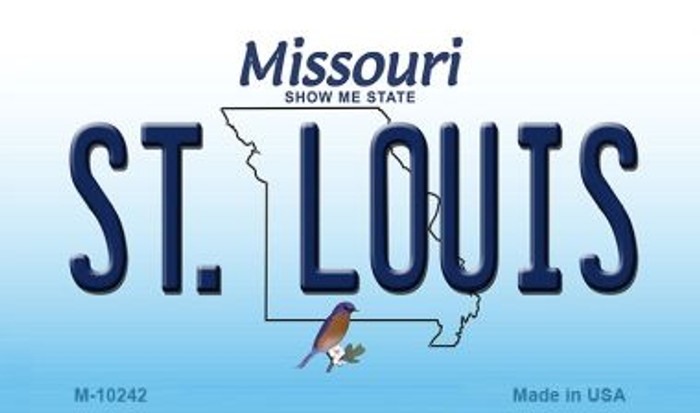 St. Louis Missouri State License Plate Wholesale Magnet