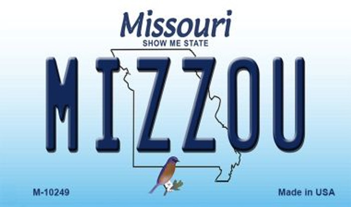 Mizzou Missouri State License Plate Wholesale Magnet