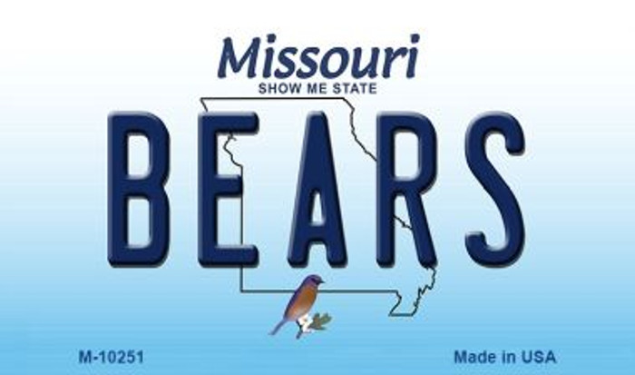 Bears Missouri State License Plate Wholesale Magnet