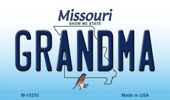 Grandma Missouri State License Plate Wholesale Magnet