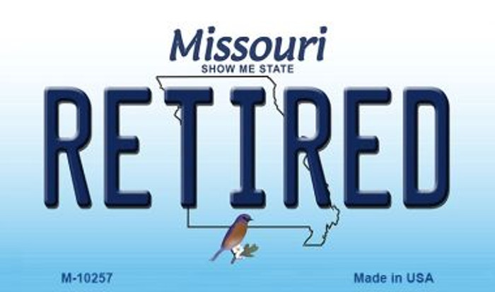 Retired Missouri State License Plate Wholesale Magnet