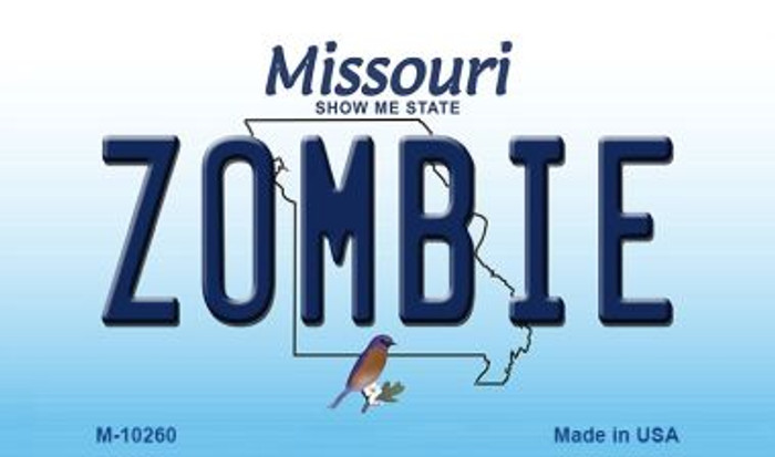 Zombie Missouri State License Plate Wholesale Magnet