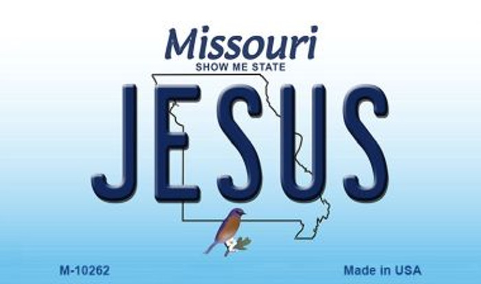 Jesus Missouri State License Plate Wholesale Magnet