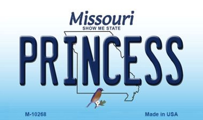 Princess Missouri State License Plate Wholesale Magnet