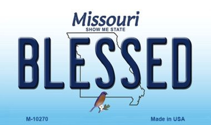 Blessed Missouri State License Plate Wholesale Magnet