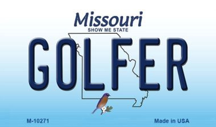 Golfer Missouri State License Plate Wholesale Magnet