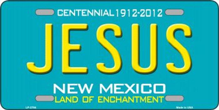 Jesus New Mexico Teal Novelty Metal License Plate LP-2784