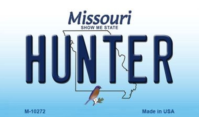 Hunter Missouri State License Plate Wholesale Magnet