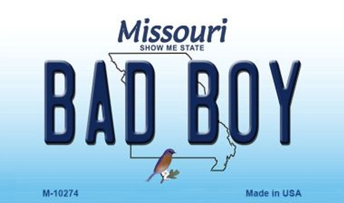 Bad Boy Missouri State License Plate Wholesale Magnet