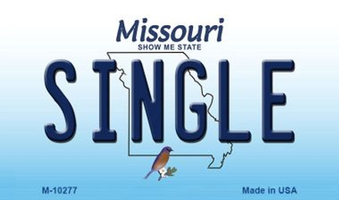 Single Missouri State License Plate Wholesale Magnet