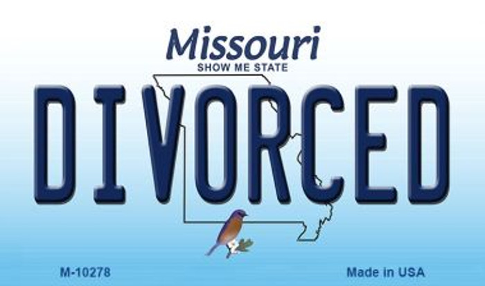 Divorced Missouri State License Plate Wholesale Magnet
