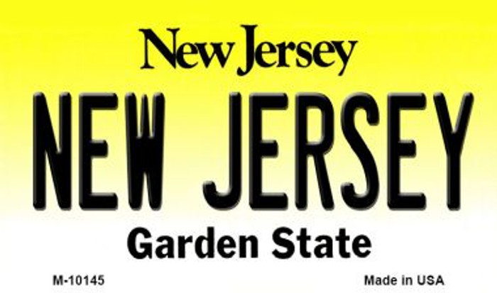 New Jersey State License Plate Wholesale Magnet