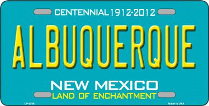 Albuquerque New Mexico Teal Wholesale Novelty Metal License Plate LP-2785