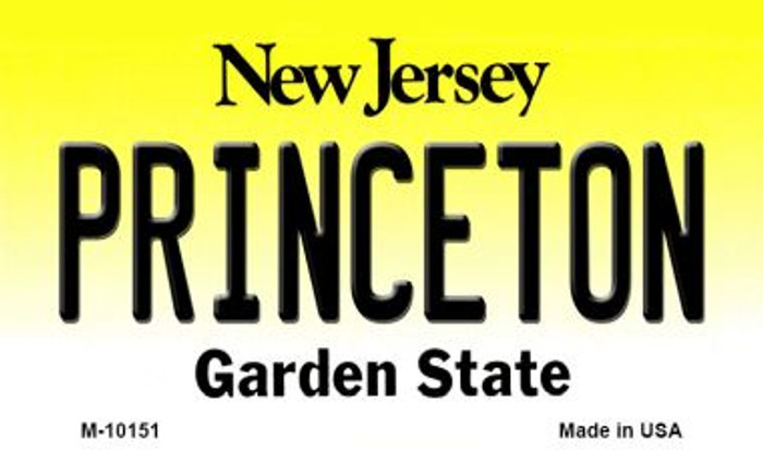 Princeton New Jersey State License Plate Wholesale Magnet