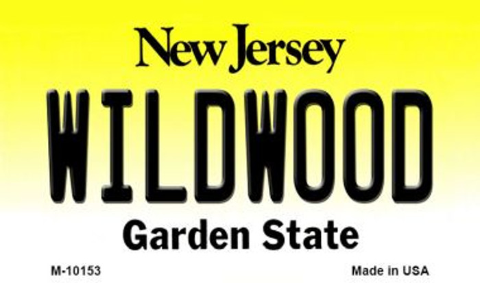 Wildwood New Jersey State License Plate Wholesale Magnet