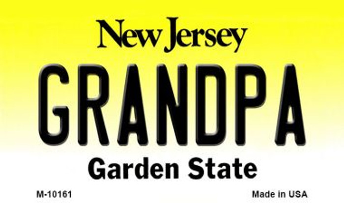 Grandpa New Jersey State License Plate Wholesale Magnet
