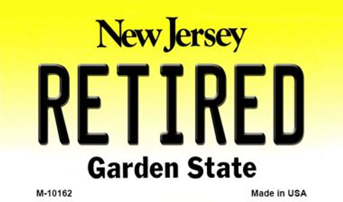 Retired New Jersey State License Plate Wholesale Magnet