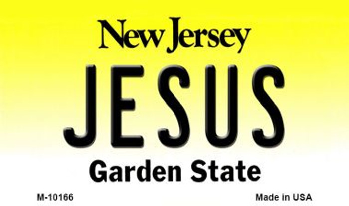 Jesus New Jersey State License Plate Wholesale Magnet