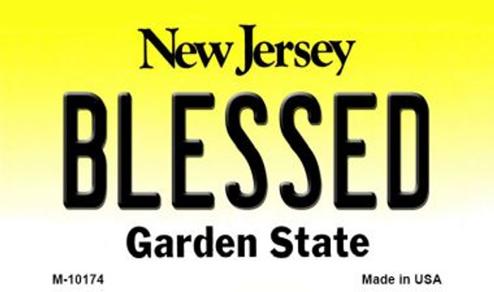 Blessed New Jersey State License Plate Wholesale Magnet