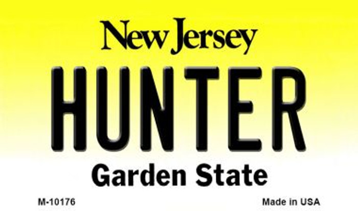Hunter New Jersey State License Plate Wholesale Magnet