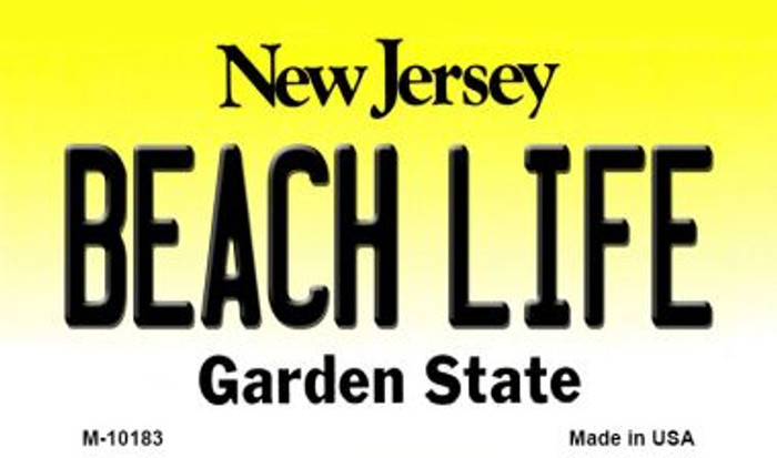 Beach Life New Jersey State License Plate Wholesale Magnet
