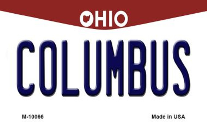 Columbus Ohio State License Plate Wholesale Magnet