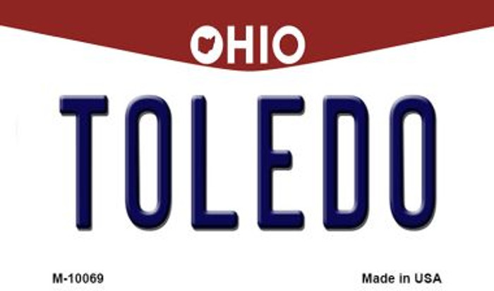 Toledo Ohio State License Plate Wholesale Magnet