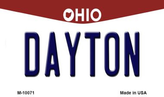 Dayton Ohio State License Plate Wholesale Magnet