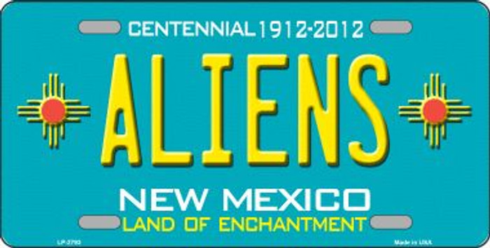 Aliens New Mexico Teal Wholesale Novelty Metal License Plate LP-2793