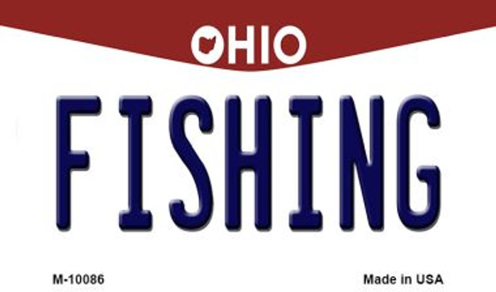 Fishing Ohio State License Plate Wholesale Magnet