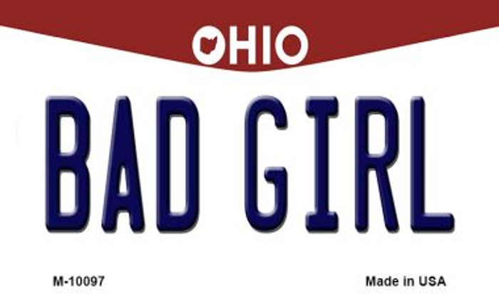Bad Girl Ohio State License Plate Wholesale Magnet
