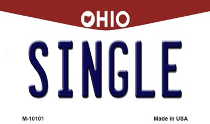 Single Ohio State License Plate Wholesale Magnet