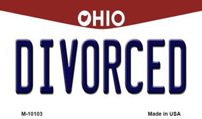 Divorced Ohio State License Plate Wholesale Magnet