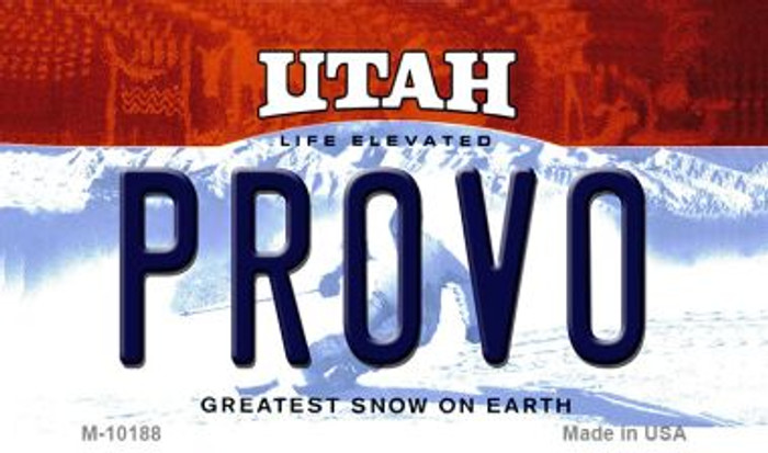 Provo Utah State License Plate Wholesale Magnet