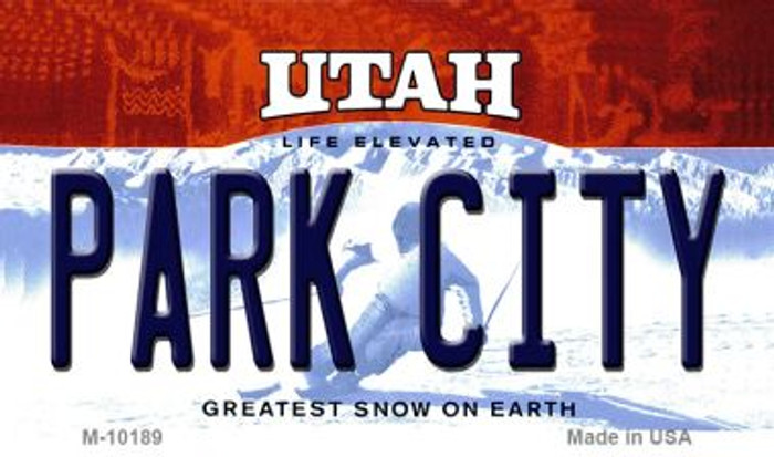 Park City Utah State License Plate Wholesale Magnet