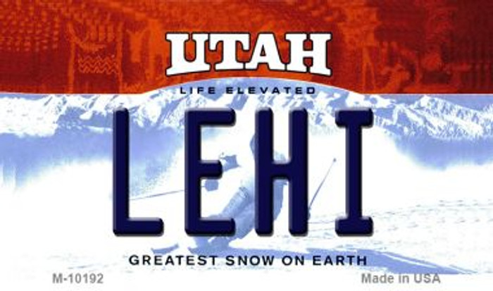 Lehi Utah State License Plate Wholesale Magnet