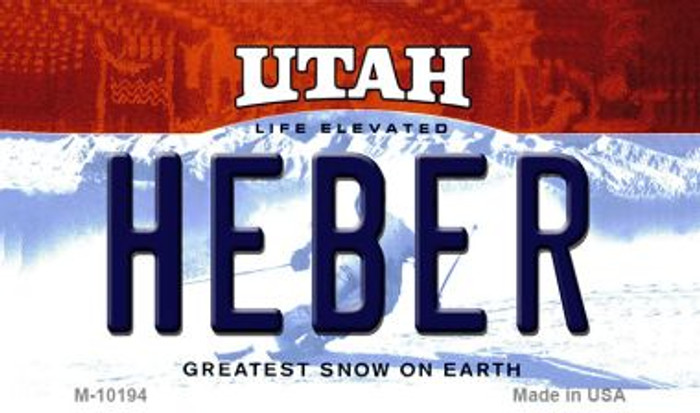 Heber Utah State License Plate Wholesale Magnet