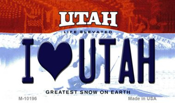 I Love Utah Utah State License Plate Wholesale Magnet